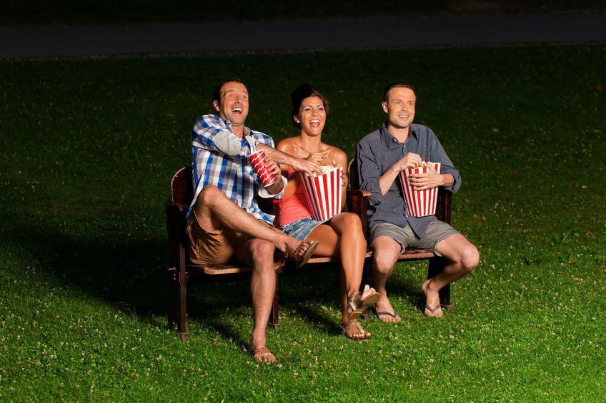 Outdoor cinema at Highfield Park