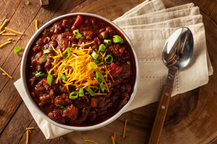 One pot chili on the menu