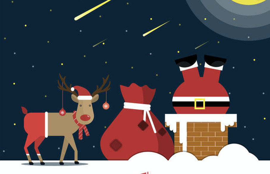 Reindeer on the roof in St Albans
