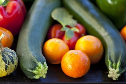 What to do with a glut of tomatoes and courgettes…