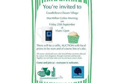 Macmillan Coffee Morning - Cheam Village