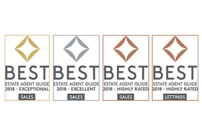 Best Estate Agent Guide 2018 accreditation's by The Property Academy.