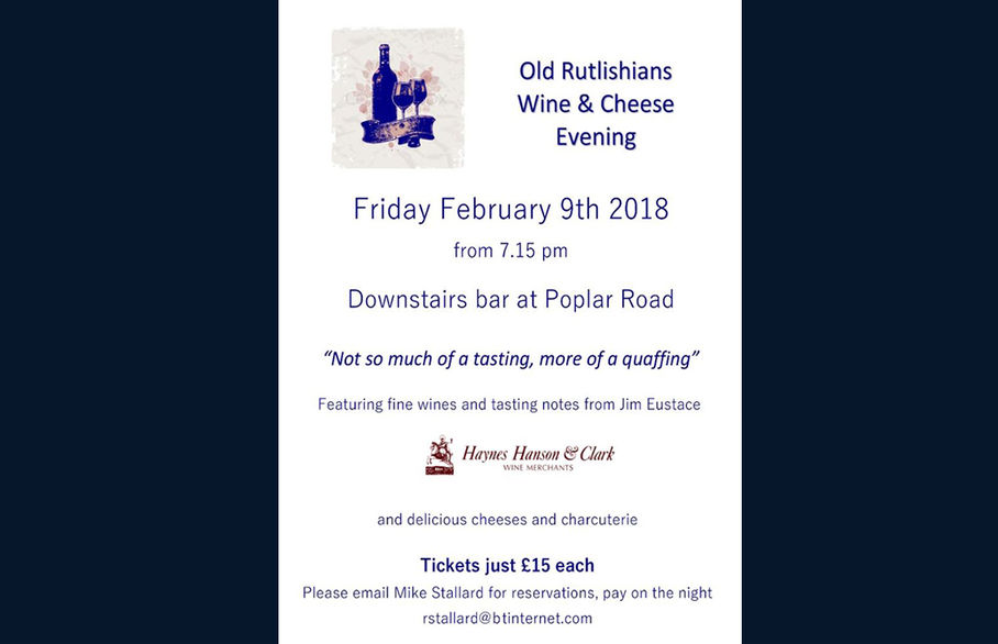Old Rutlishians  Wine & Cheese Evening