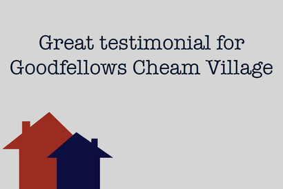 Great testimonial for Goodfellows Cheam Village