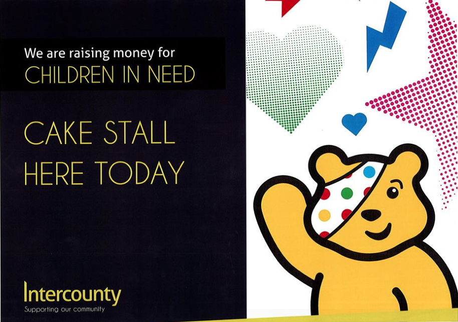 Intercounty Raises Money For The Bbc's Children In Need...