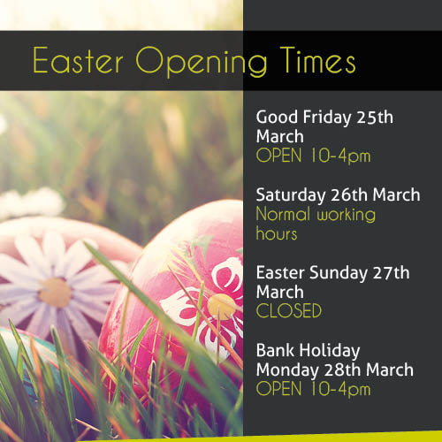 Intercounty's Easter Opening Times