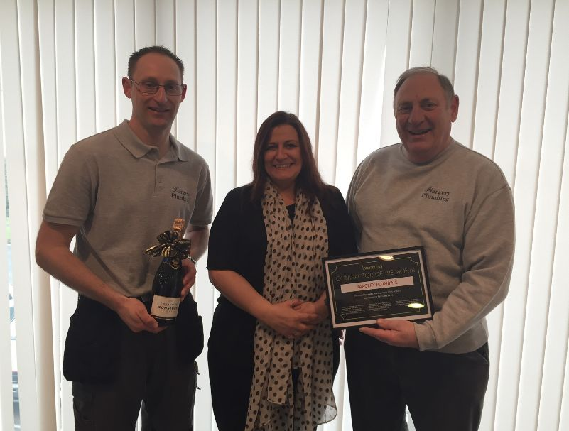 Bagery Plumbing awarded contractor of the month