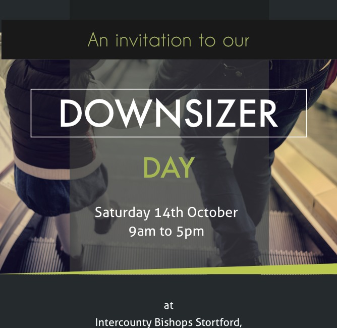 Downsizer Day this Saturday 14th October