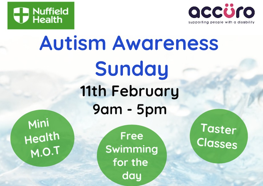 Autism Awareness Sunday 11th February 9-5pm