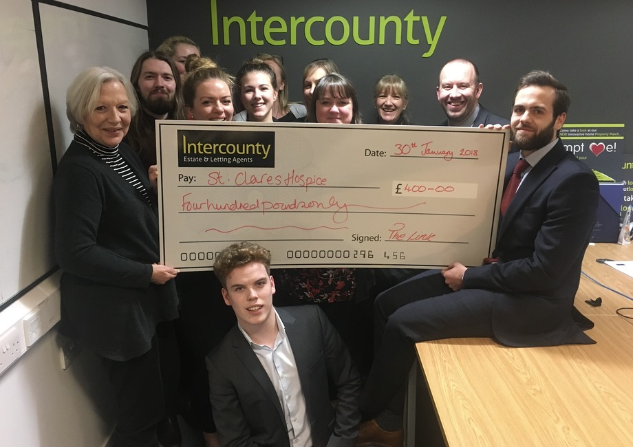 Intercounty's Dress Down Friday raises £400 for St Clare's Hospice