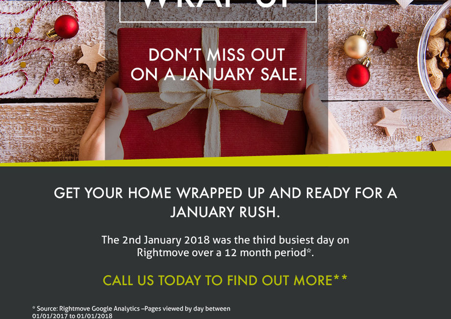 Make sure your home is wrapped up for a January sale