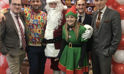 Intercounty Bishop's Stortford Santas Grotto raises money for charity