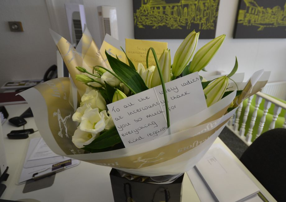Lovely Bunch Of Flowers Sent To The Team At Stansted From A Very Happy Buyer