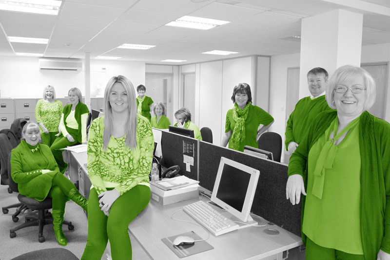 The Link Go Green For Charity….