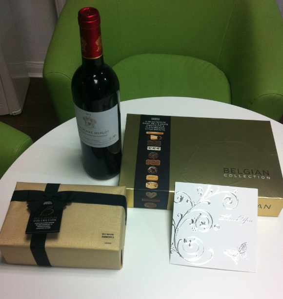 Intercounty Chelmsford Receive Some Gifts From A Happy Landlord
