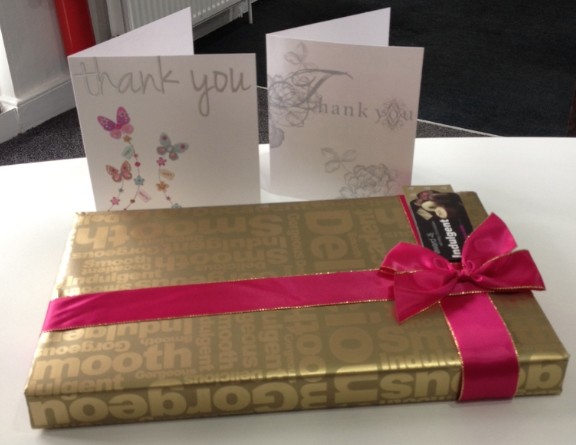 Intercounty Saffron Walden Receive A Box Of Chocolates From A Happy Buyer...