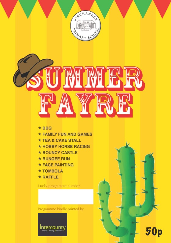 Birchanger Primary School Summer Fayre 15Th June, Sponsored By Intercounty