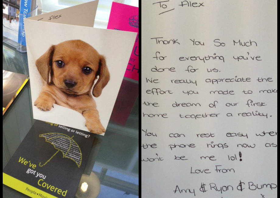 Great Thank You Card For Alex In Great Dunmow