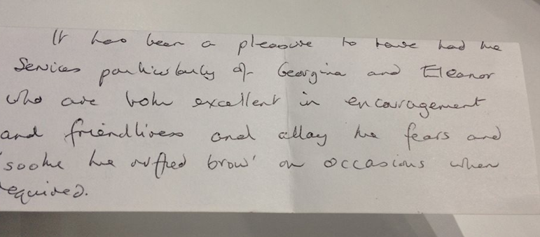 Thank You Letter From A Happy Vendor For Intercounty Saffron Walden