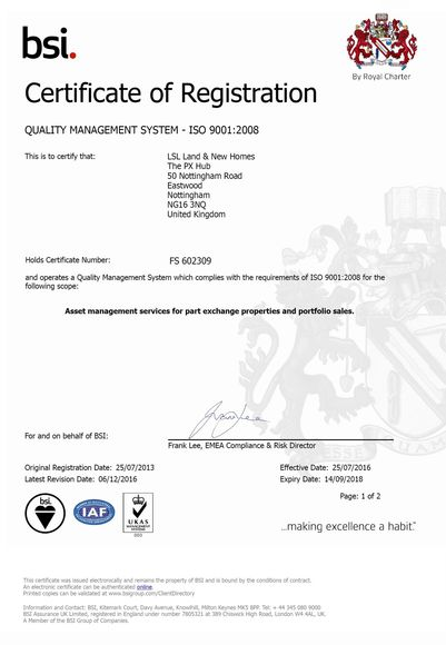 PX Hub BSI Certificate for 2017