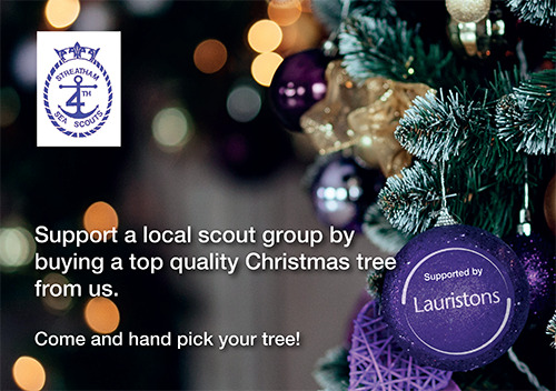 Supporting Streatham Sea Scouts Christmas Trees