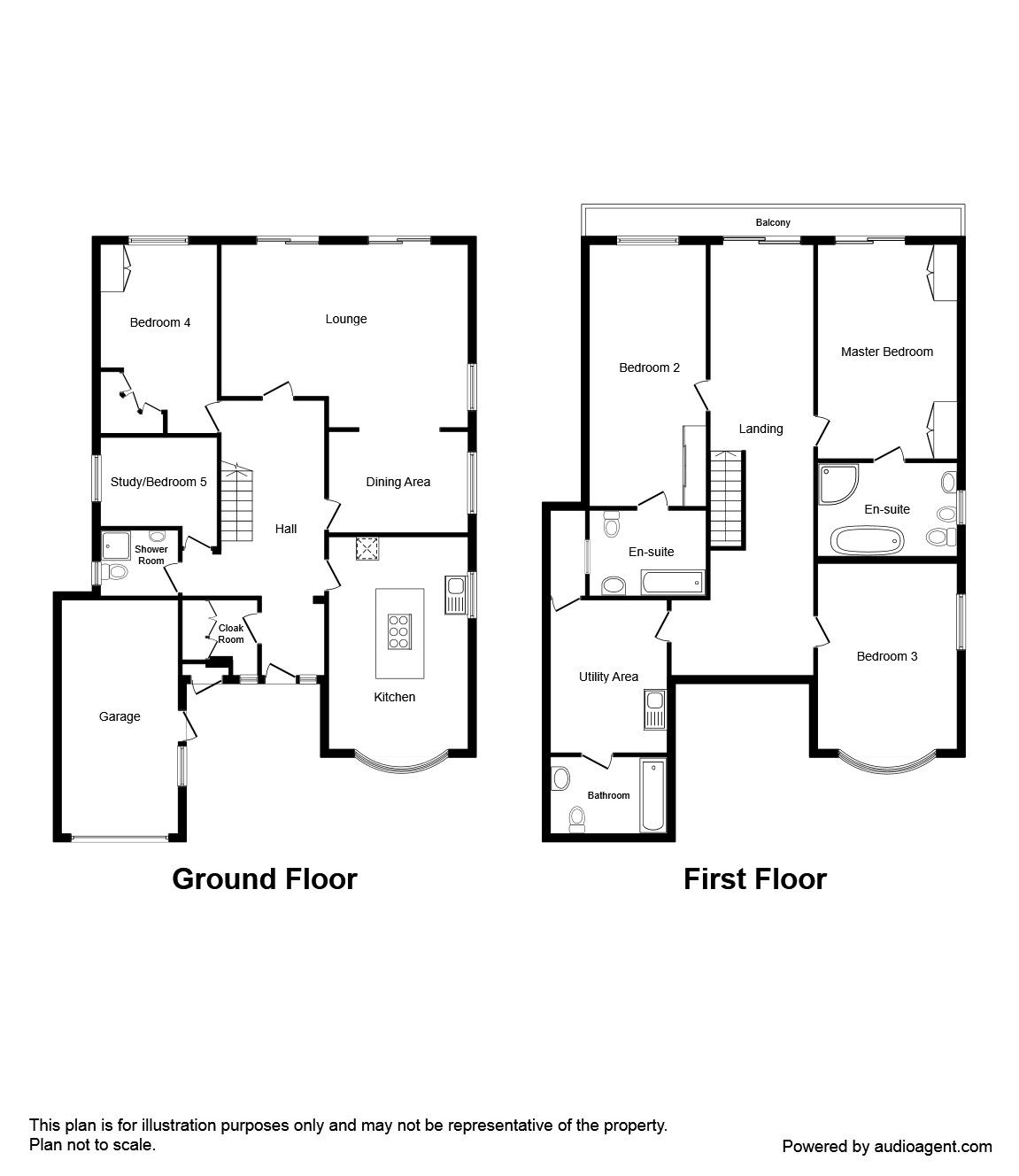 5 bedroom property for in rugeley staffordshire reeds rains view floorplan