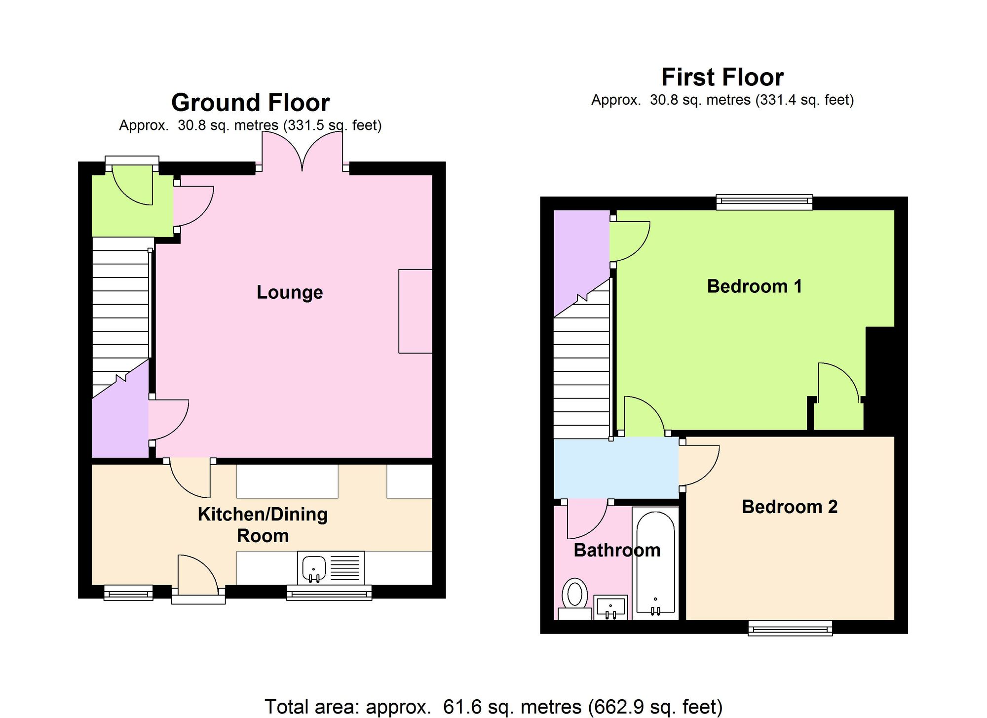 Property for sale in leadgate consett county durham for Floor plan finder