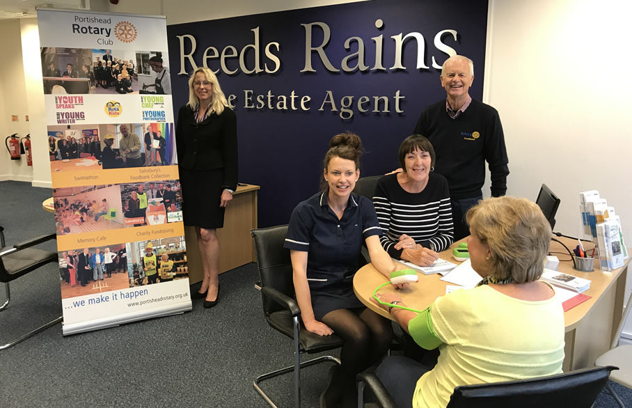 Reeds Rains in Portishead offers blood pressure monitoring