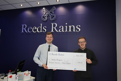 Winner of Reeds Rains prize draw announced
