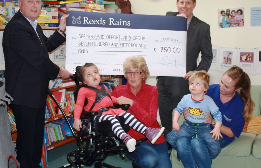 Reeds Rains Clevedon donate £750 to local charity