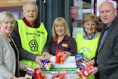 The Reeds Rains Clevedon team donating Easter eggs to a foodbank
