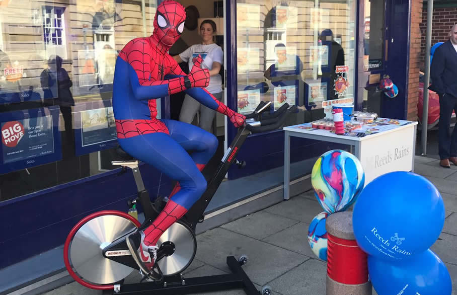 Chorley superheroes get on their bikes for Cash for Kids