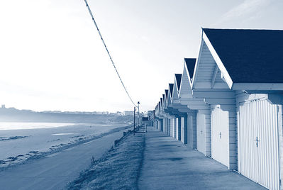 Beach houses on Scarborough beach hut