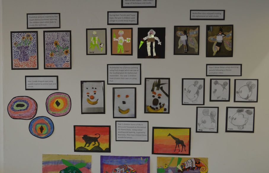 The Padnell Infants School art trail comes to Reeds Rains Waterlooville